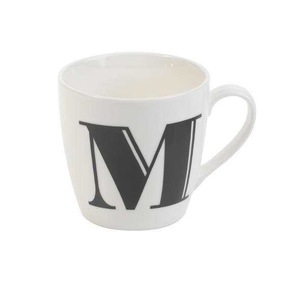 Cambridge CM04034 Harrogate M Black Alphabet Fine China Mug