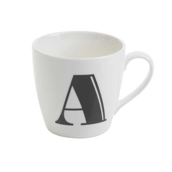 Cambridge CM04035 Harrogate A Black Alphabet Fine China Mug