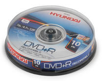 Hyundai HY7621 DVD + R  Recordable 4.7Gb Disc Pack of 10