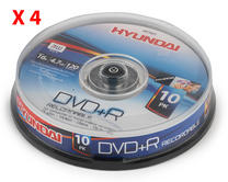 Hyundai HY7621 DVD + R  Recordable 4.7Gb Disc Pack of 10 x 4 Packs