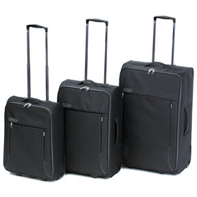 "Constellation Superlite Suitcase Set, 18, 24 & 28"", Black/Grey"
