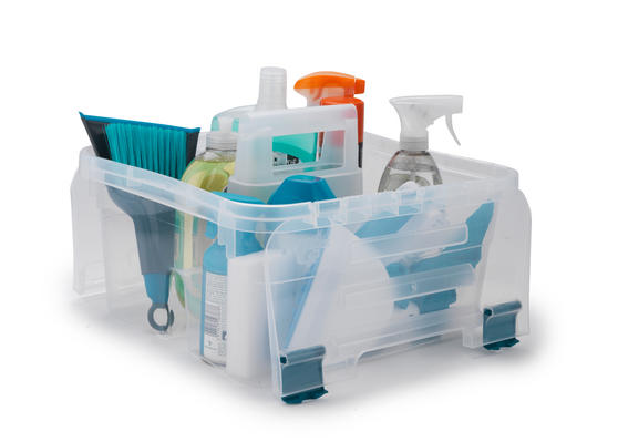 Beldray Small Clear Caddy with Lid