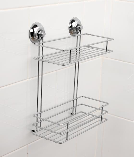 Beldray LA036230 Two Tier Suction Shower Basket