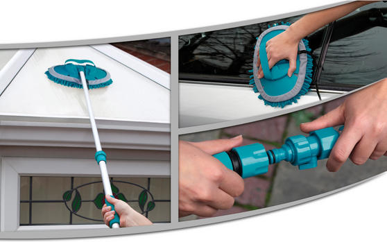 Beldray LA026255TQ Turquoise Chenille Outdoor Mop Thumbnail 1