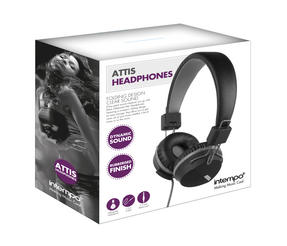 Intempo EE1081BG Black and Grey Attis Over-Ear Headphones Thumbnail 3