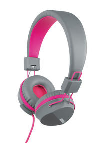 Intempo EE1081 Attis Grey and Pink Over-ear Headphones
