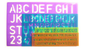 Anker Stationery 212390 Lettering Stencils
