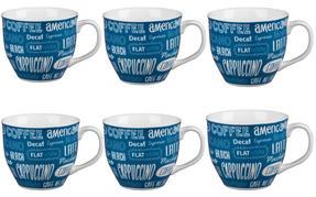 Cambridge CM03612 Oxford Coffee Shop Blue Fine China Mug Set of 6 Thumbnail 1