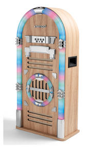 Intempo Oak Large Bluetooth Jukebox With LED Flashing Lights Thumbnail 2