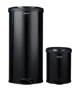 Progress BW04729 30 Litre and 5 Litre Black Pedal Bin Set Thumbnail 1