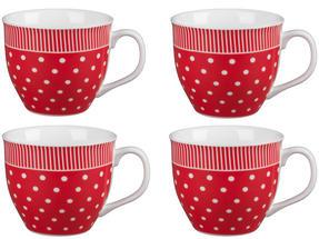 Cambridge CM03616 Oxford Liberty Red Fine China Mug Set of 4 Thumbnail 1