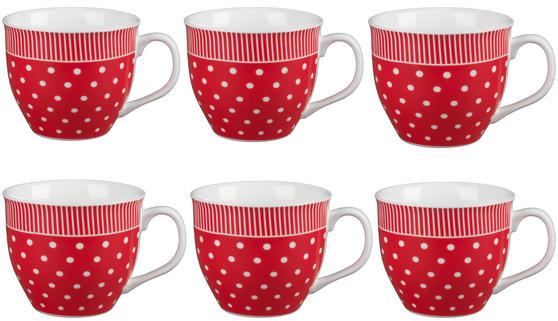 Cambridge CM03616 Oxford Liberty Red Fine China Mug Set of 6