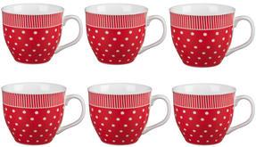 Cambridge CM03616 Oxford Liberty Red Fine China Mug Set of 6 Thumbnail 1