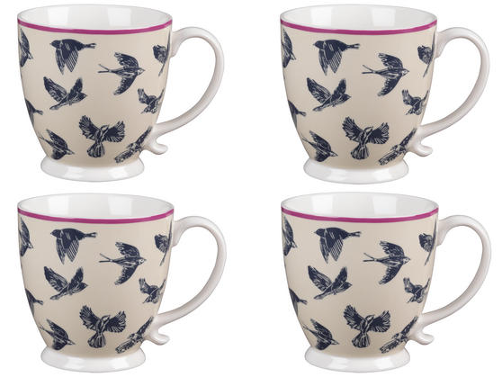 Cambridge CM03619 Kensington Avairy Fine China Mug Set of 4
