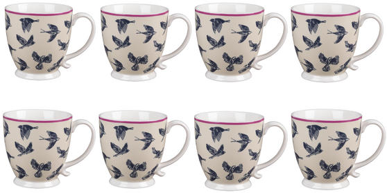 Cambridge CM03619 Kensington Avairy Fine China Mug Set of 8