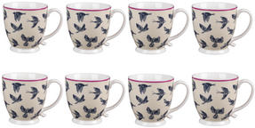 Cambridge CM03619 Kensington Avairy Fine China Mug Set of 8 Thumbnail 1