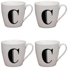 Cambridge CM04032 Harrogate C Black Alphabet Fine China Mug Set of 4 Thumbnail 1