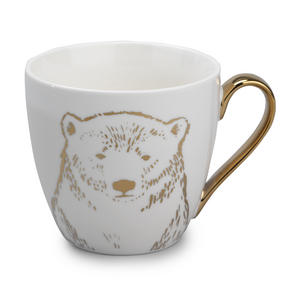 Cambridge CM05034 Kendal Gold Polar Bear Fine China Mug Thumbnail 1