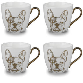 Cambridge CM05045 Kendal Gold Bulldog Fine China Mug Set of 4 Thumbnail 1