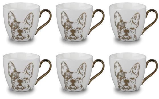 Cambridge CM05045 Kendal Gold Bulldog Fine China Mug Set of 6