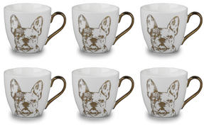 Cambridge CM05045 Kendal Gold Bulldog Fine China Mug Set of 6 Thumbnail 1