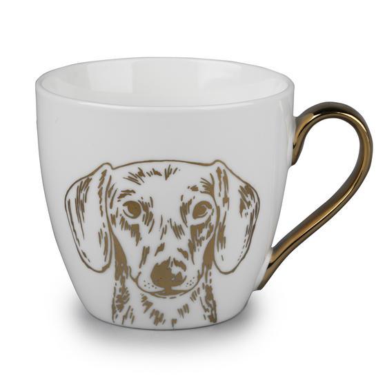 Cambridge CM05046 Kendal Gold Dachshund Fine China Mug