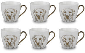 Cambridge CM05047 Kendal Gold Labrador Fine China Mug Set of 6 Thumbnail 1