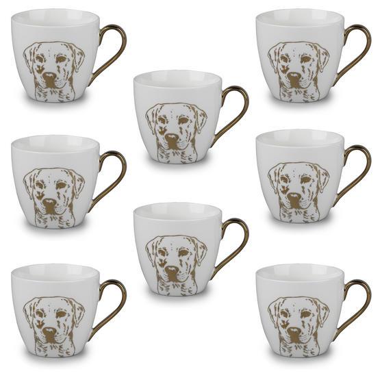 Cambridge CM05047 Kendal Gold Labrador Fine China Mug Set of 8