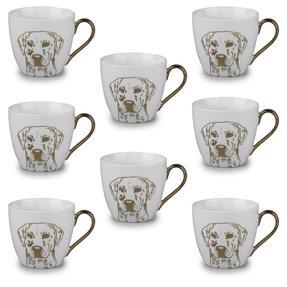 Cambridge CM05047 Kendal Gold Labrador Fine China Mug Set of 8 Thumbnail 1