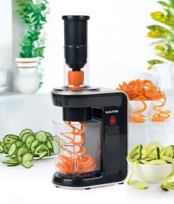 Salter 3 in 1 Top Loading Electric Fruit and Vegetable Spiralizer, 80 W Thumbnail 3