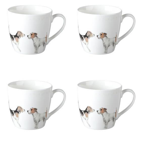Cambridge CM04286 Harrogate Terrier Friends Fine China Mug Set of 4