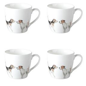 Cambridge CM04286 Harrogate Terrier Friends Fine China Mug Set of 4 Thumbnail 1