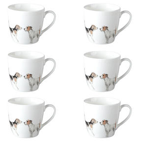 Cambridge CM04286 Harrogate Terrier Friends Fine China Mug Set of 6 Thumbnail 1