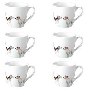 Cambridge CM04286 Harrogate Terrier Friends Fine China Mug Set of 6 Thumbnail 1