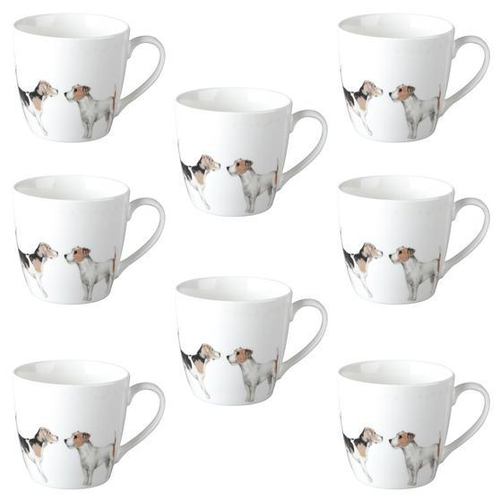 Cambridge CM04286 Harrogate Terrier Friends Fine China Mug Set of 8