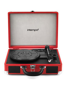 Intempo EE1551RED Red Retro Bluetooth Audio Turntable