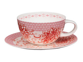 Portobello CM04906 Daria Bone China Cup and Saucer Set Thumbnail 1