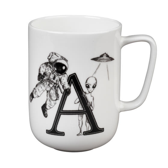 Portobello CM04992 Devon Alien & Astronaut Bone China Mug