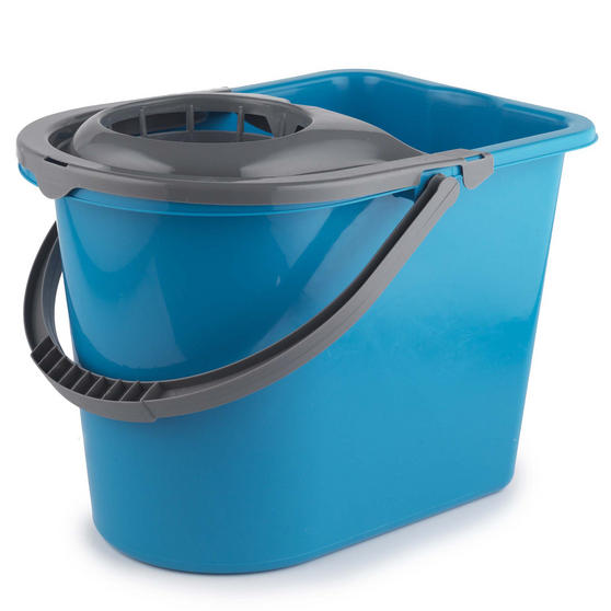 Beldray Large Mop Bucket with Mop Wringer, 14 Litre, Turquoise Thumbnail 1