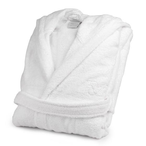 Frette 1705721 White Cotton Bath Robe ? Small/Medium