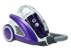 Hoover CU81_CU11001 Curve Bagless Cylinder Vacuum Cleaner - Purple and White [Energy Class A]