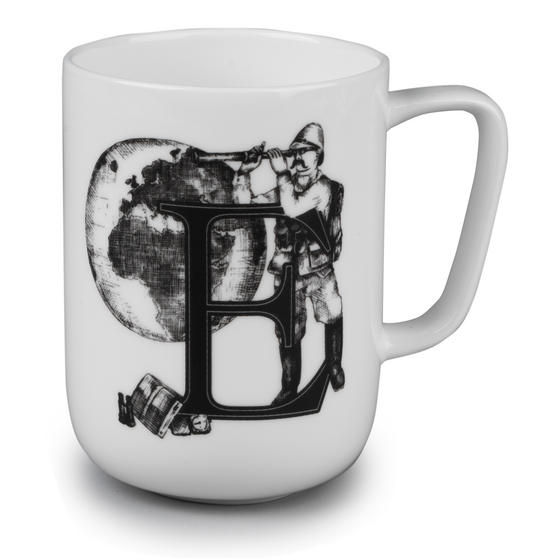 Portobello CM04994 Devon Exploring The Earth Bone China Mug