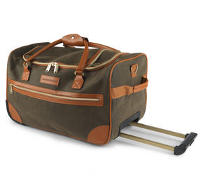 Constellation Esquire Suedette Roller Holdall, Green Thumbnail 2