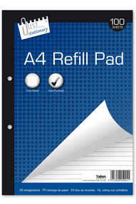 Just Stationery 5004 A4 Refill Pad with 100 Sheets