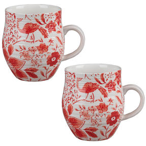 Portobello CM04381 Anglesey Paradise Red Stoneware Mug Set of 2 Thumbnail 1