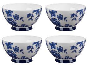 Portobello CM04471 Footed Perla Bone China Bowl Set of 4