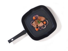 Progress BW04942 Forged Aluminium Black 28 cm Non Stick Griddle Pan Thumbnail 2
