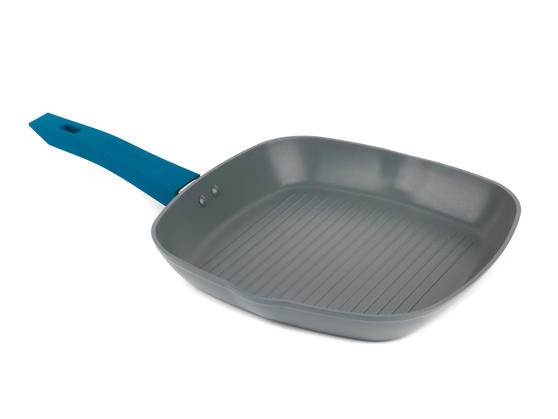Progress BW04960 Forged Aluminium Teal 28 cm Non Stick Griddle Pan