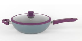 Progress BW04959 Forged Aluminium Purple 28 cm Non Stick Wok Thumbnail 1