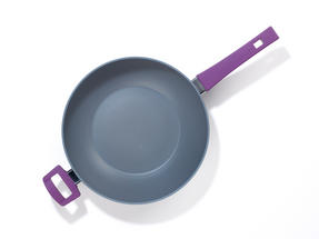 Progress BW04959 Forged Aluminium Purple 28 cm Non Stick Wok Thumbnail 2